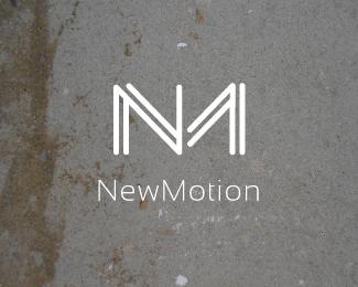Nm New Motion Logotipo Criativo Logotipo Design De Identidade
