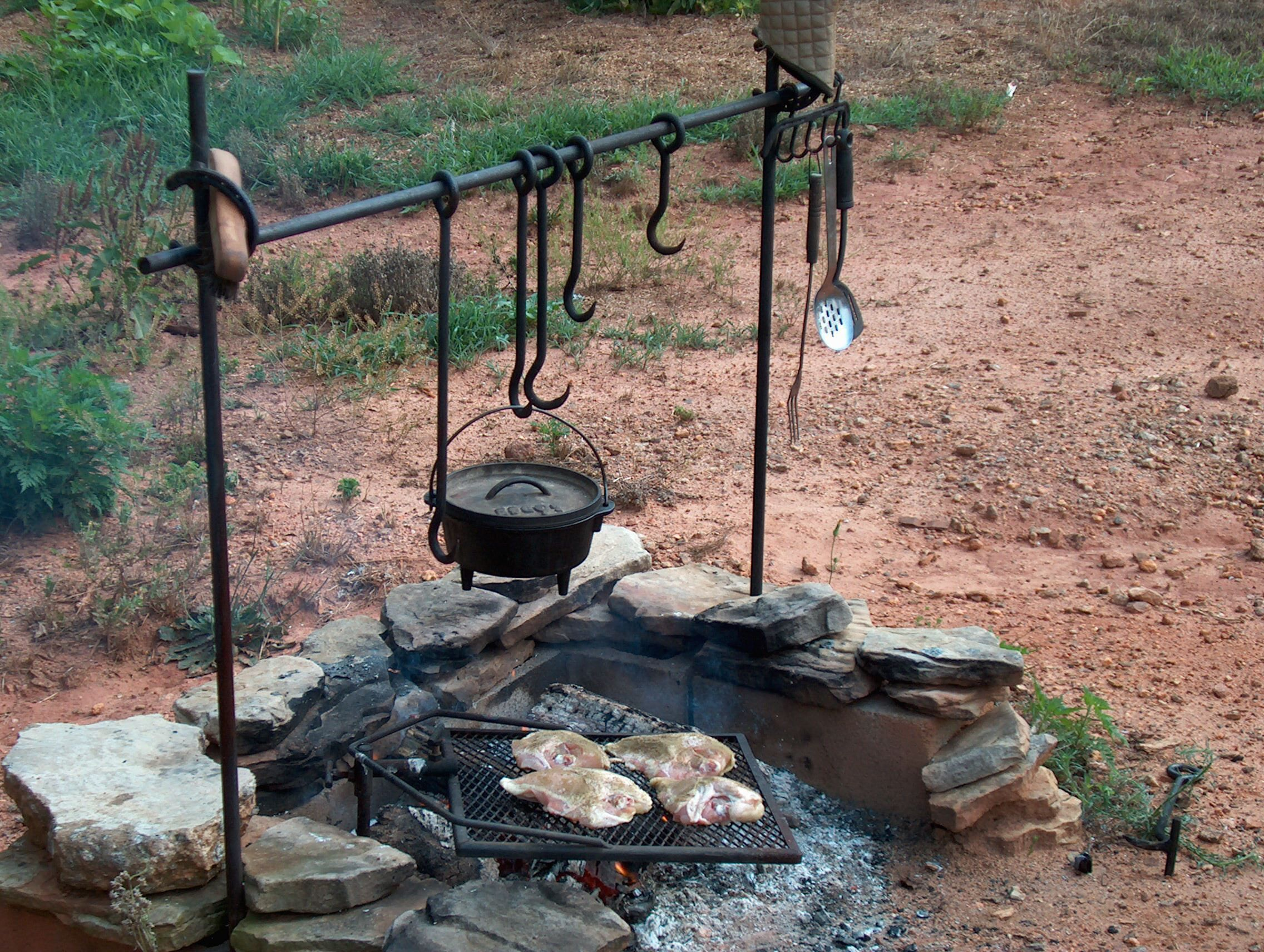 Cowgirl Cooking Html Outdoor Camping Kitchen Campfire Cooking Backyard Camping