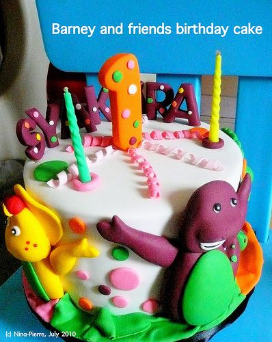 Barney and friends birthday cake Cakes Pinterest Friends