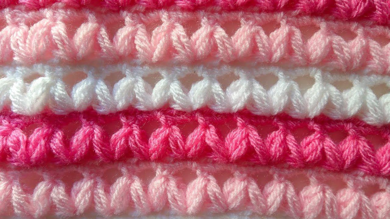 Punto para mantas , cobijas y blusas a crochet 💐 PUFF #facil ...