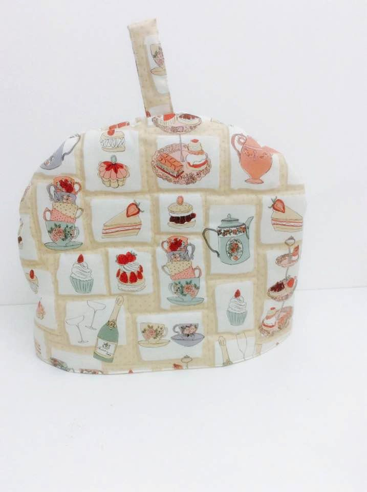 Tea Time Fabric Teapot Cover Handmade Tea Cozy Kitchen Accessory