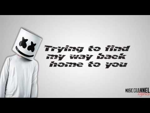 Marshmello - Alone (Lyric Video) - YouTube   songs I like in