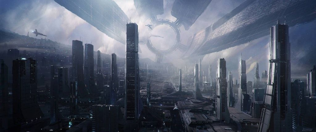 Space city [3440×1440] 4K