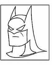 This Coloring Page Show The Head And Mask Of Dc Comics Hero Batman Colouring Sheet Is Drawn So That Take Up Almost
