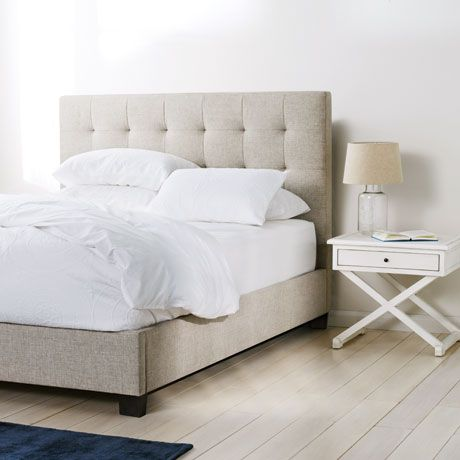 Marlo Queen Bed in Pendle Oatmeal  - freedom