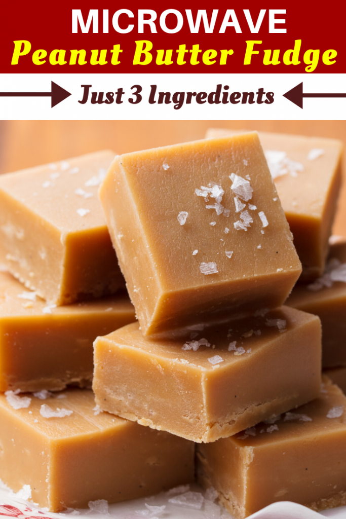 Microwave Peanut Butter Fudge - Just 3 Ingredients! - Insanely Good #peanutbuttersquares