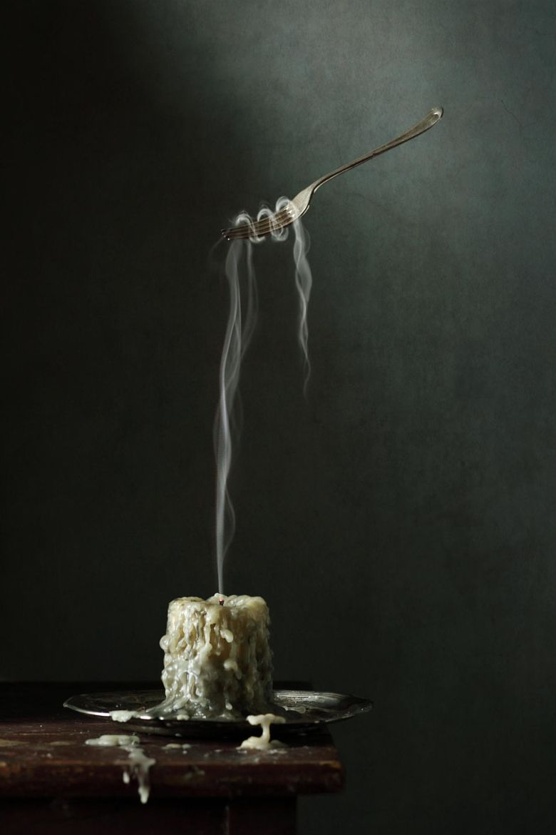 Photograph Candle, smoke and fork by Diana Amelina on 500px | Art ... for Candle Smoke Photography  66pct