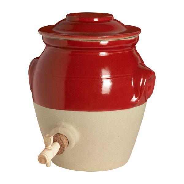 Digoin Vinaigrier 3l En Grès Naturel Et Rouge Gres Rouge