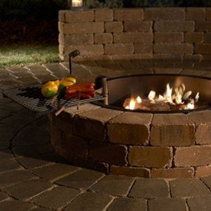 Grand Stone Outdoor Fire Ring Kit Stone Fire Pit Fire Pit Kit Outdoor Fire Pit