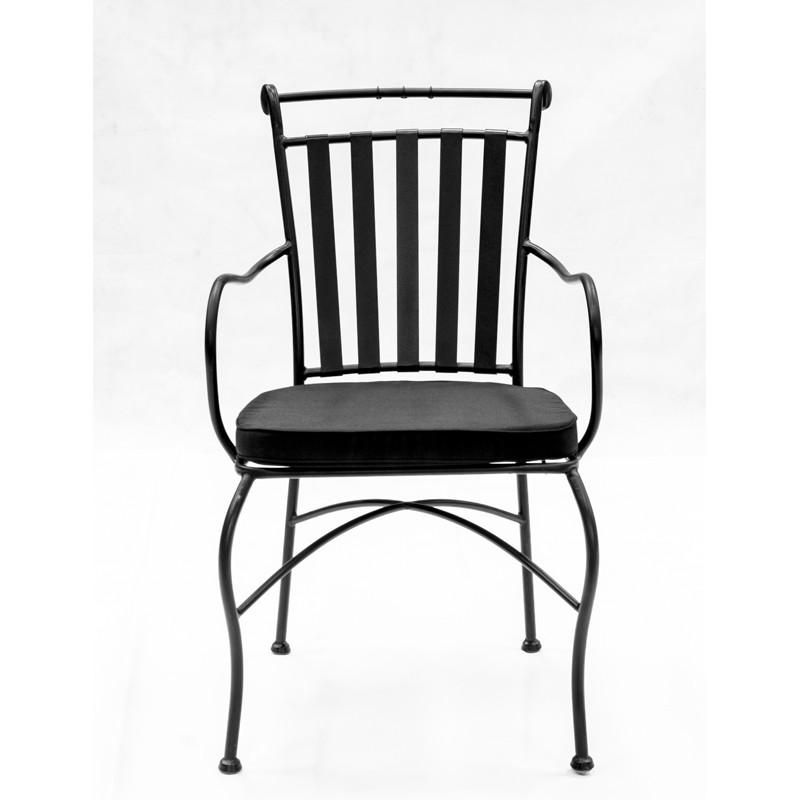 Adele Wrought Iron Carver Black Wrought Iron Chairs Outdoor