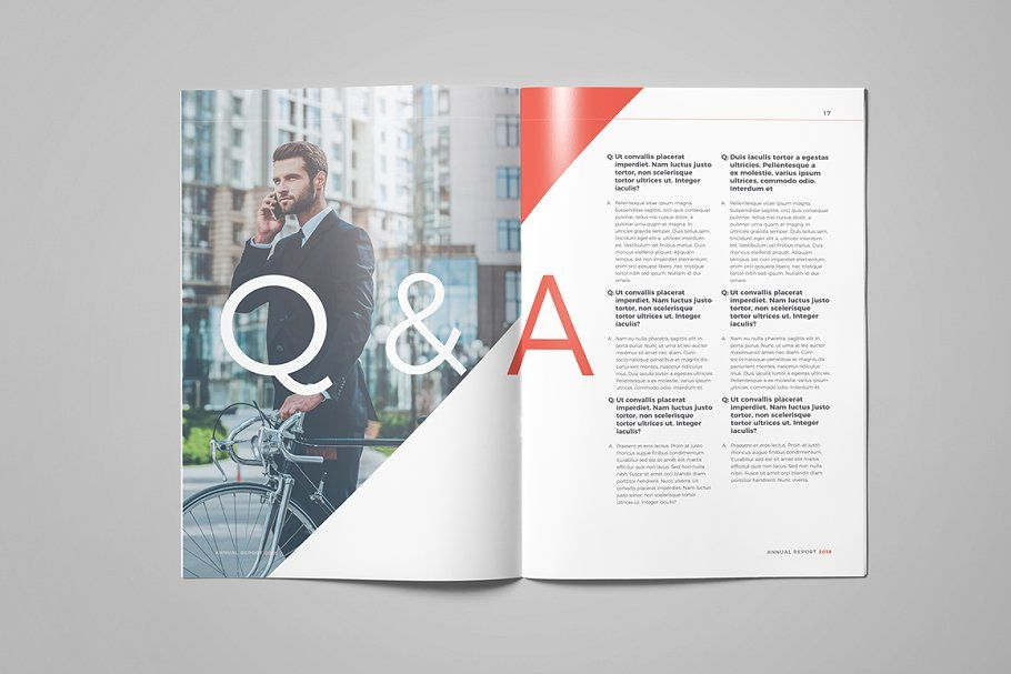 Ad annual report 2018 by fathurfateh on creativemarket