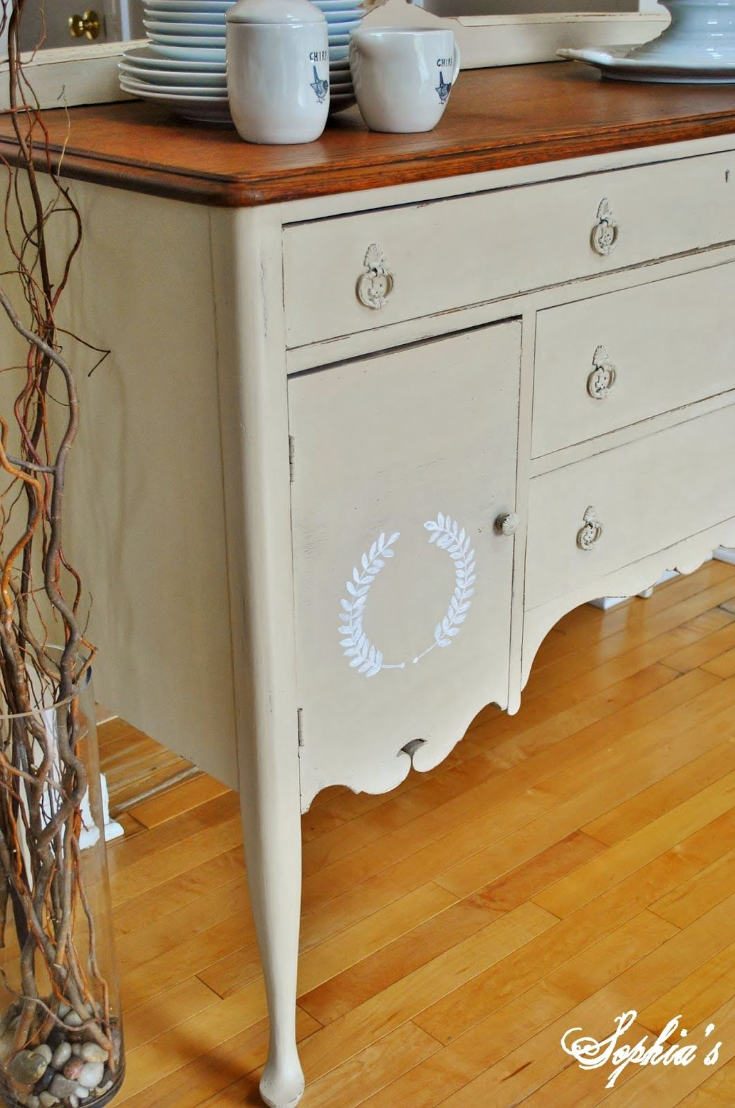 Sophia s Simple Sideboard Makeover with Old Ochre Chalk Paint