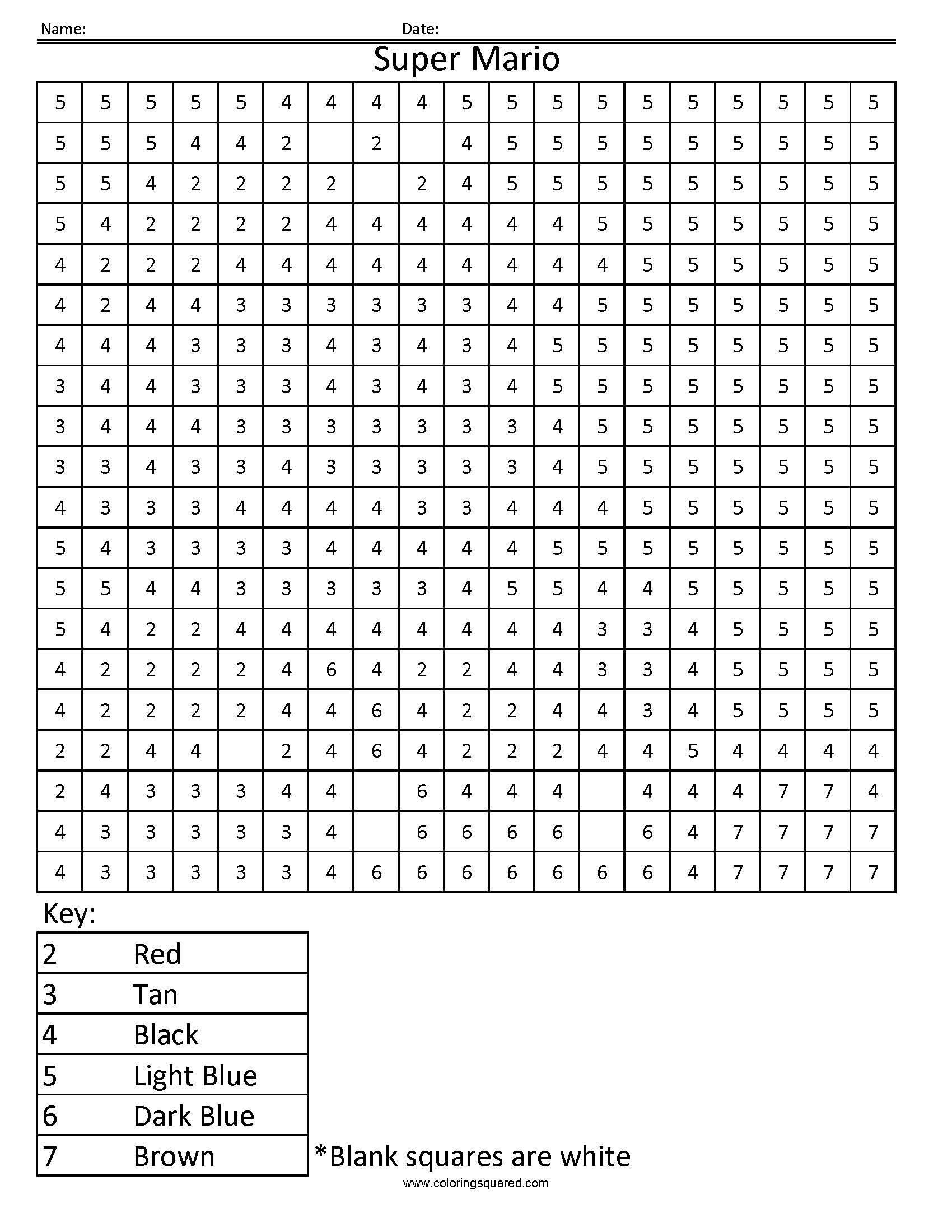 Square Coloring Pages Free Printable In