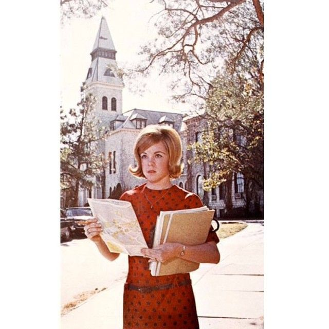 A KState freshman in 1967 with a campus map in hand