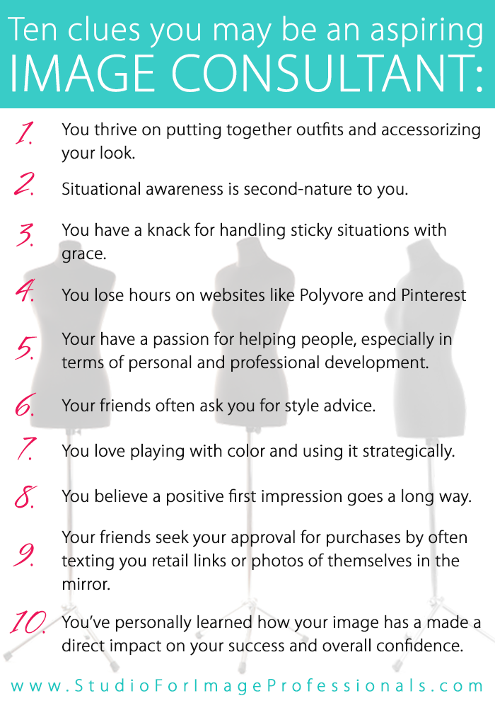 Ten clues you may be an aspiring image consultant http Fashion design consultant