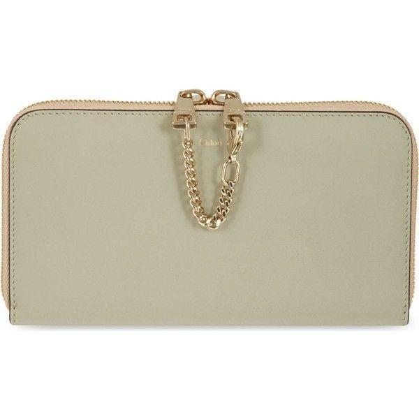 CHLOE Baylee long zip calfskin wallet