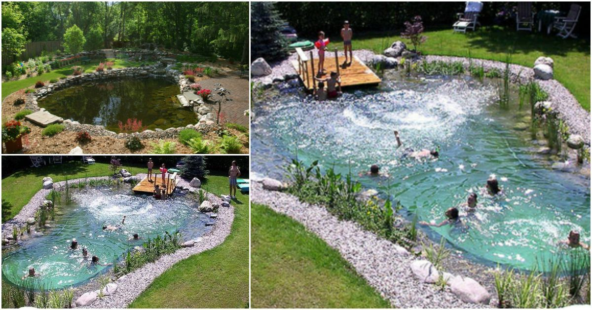 Magical Outdoor Diy How Make An All Natural Swimming Pond Natural Swimming Ponds Swimming Pond Diy Pond Pool