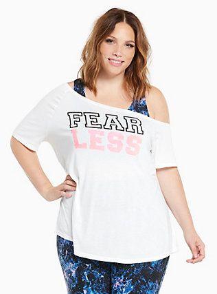 5c0733a6f931b7 Plus Size Torrid Active - Fear Less Off Shoulder Tee