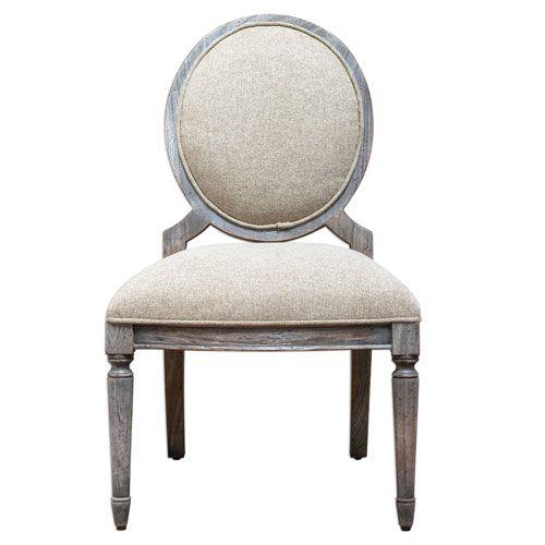 Kamila Light Tan Armless Chair