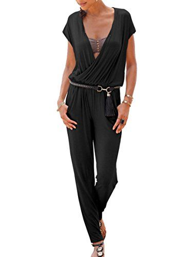 the latest be8ee a5429 Lascana Damen Strand-Overall/Jumpsuit Schwarz (200) 44 ...