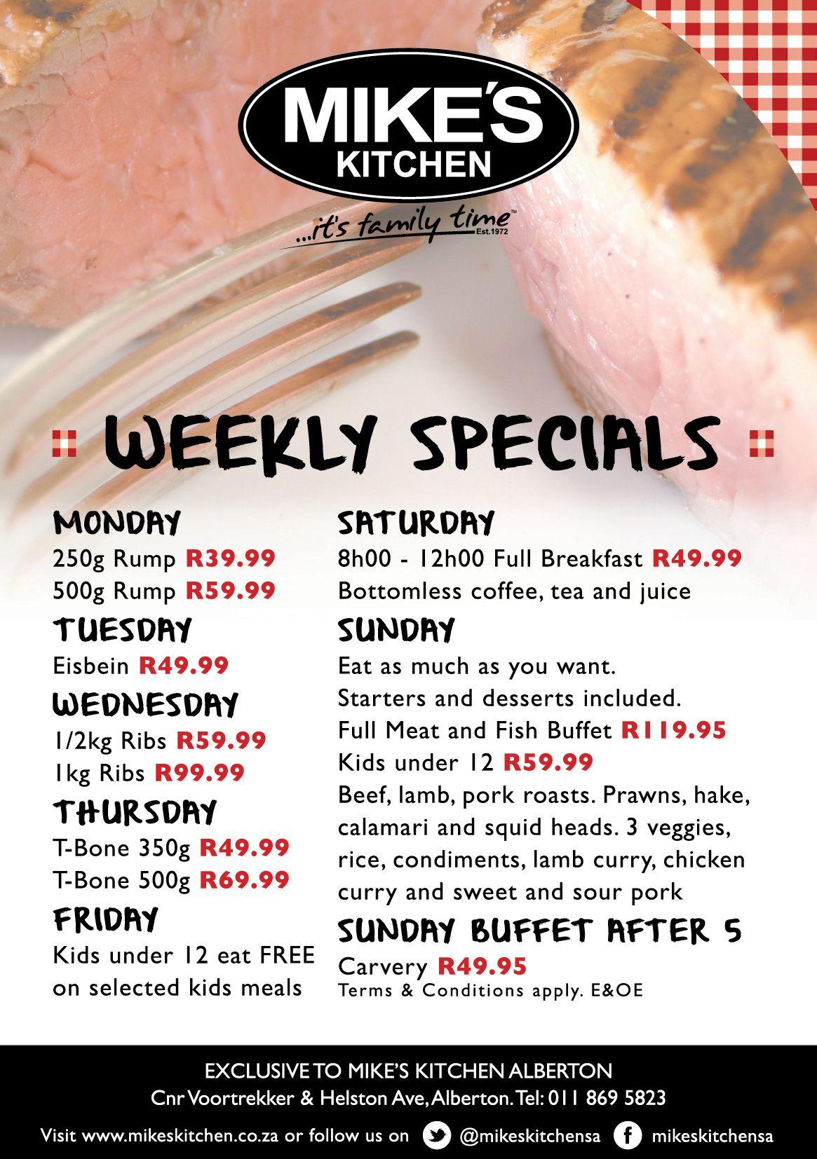 Mike\'s Kitchen Alberton Weekly Specials | Mike\'s Kitchen Alberton ...