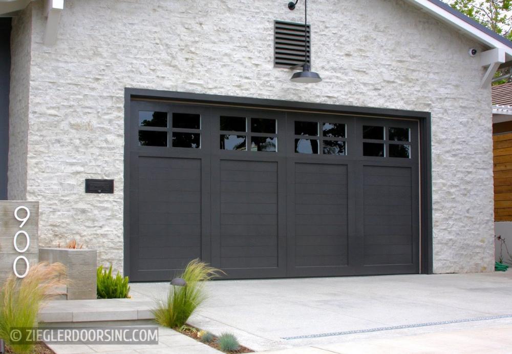 Farmhouse Wood Garage Doors By Ziegler Doors Inc In 2020 Garage Door Styles Garage Door Design Modern Garage Doors
