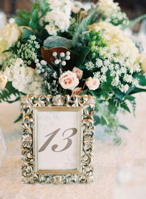 Chic Blue + Cream Wedding | Table numbers, Wedding and Weddings