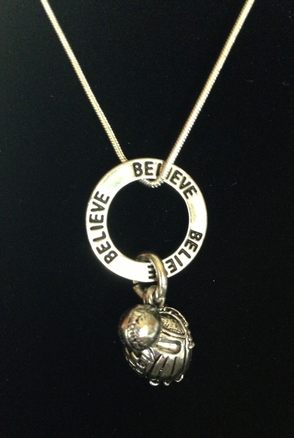 necklace pin gifts softball jewelry pendant charm