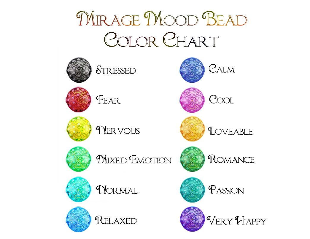 Mirage Mood Beads Chart Jewelery Making Pinterest Beads Mood