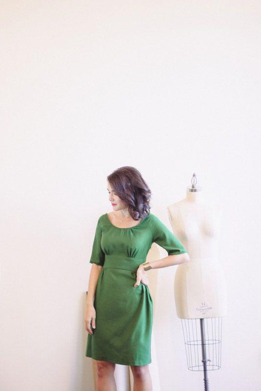 Colette Dahlia Dress (Beginner)