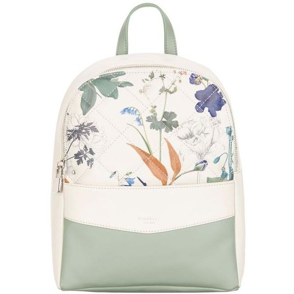 Fiorelli White botanical print Trenton backpack ❤ liked on Polyvore  featuring bags