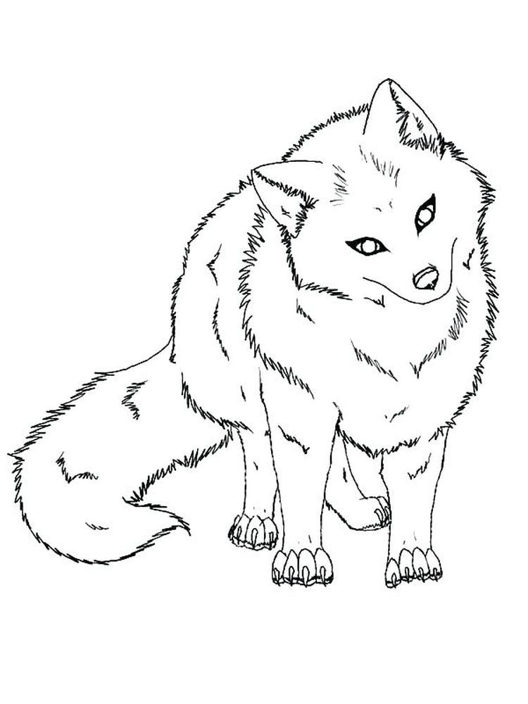Anime Fox Fox coloring page, Animal coloring pages