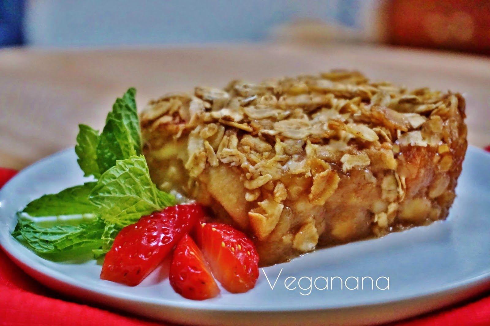 Torta de Aveia e Maçãs - Veganana