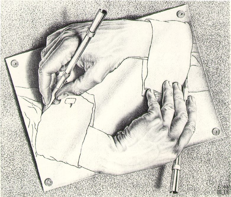 drawing hands mc escher 1948