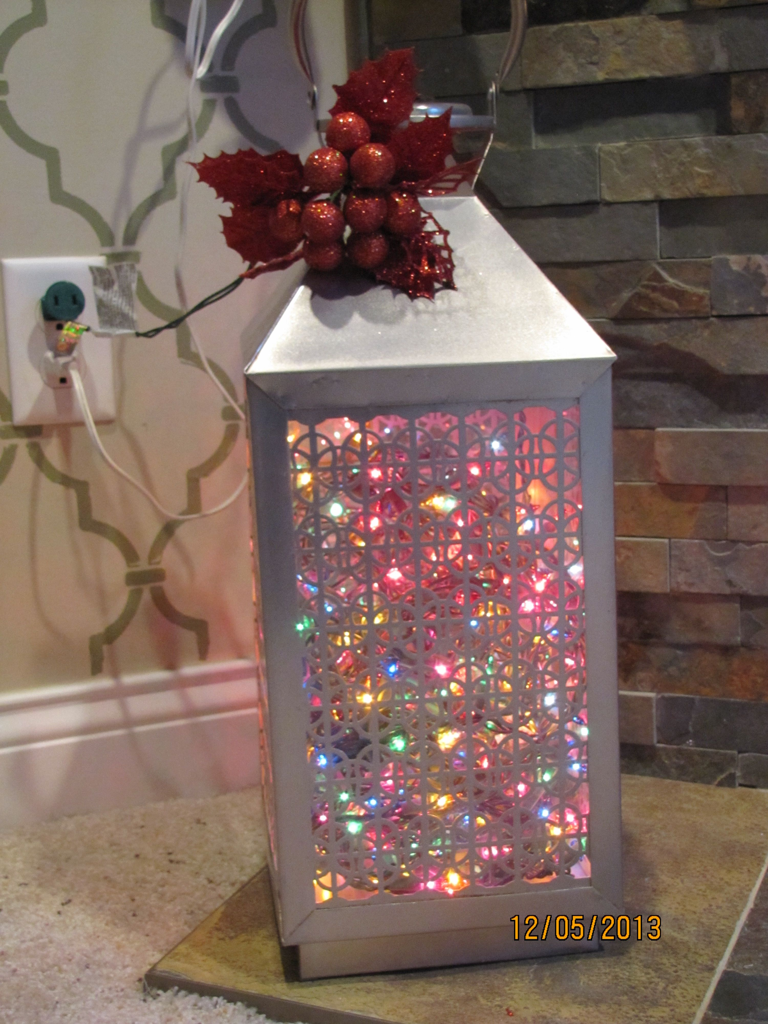 This lantern was an end of summer clearance item from Tar a while