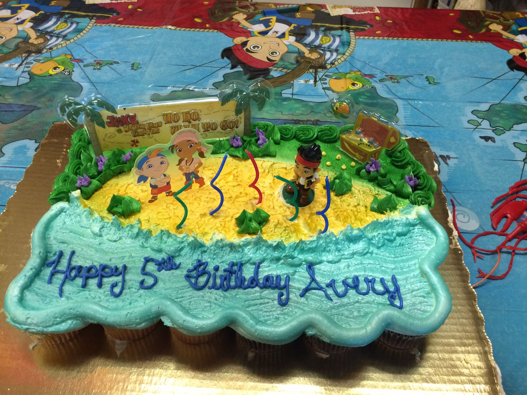 Publix Cupcake Cake Pirate Party Jake The Neverland Pirates