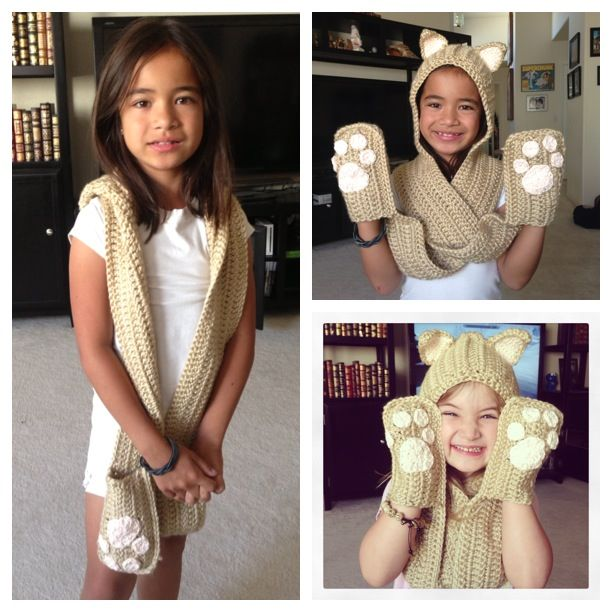 Hooded scarf. This fun and easy pattern can be found here: www ...
