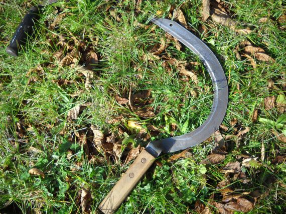 Vintage Sickle Knife HandScythe by bladeandbroom on Etsy, $13.00