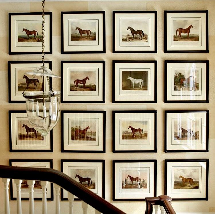 Different Collage Walls With Family Photos Not Horses Put A