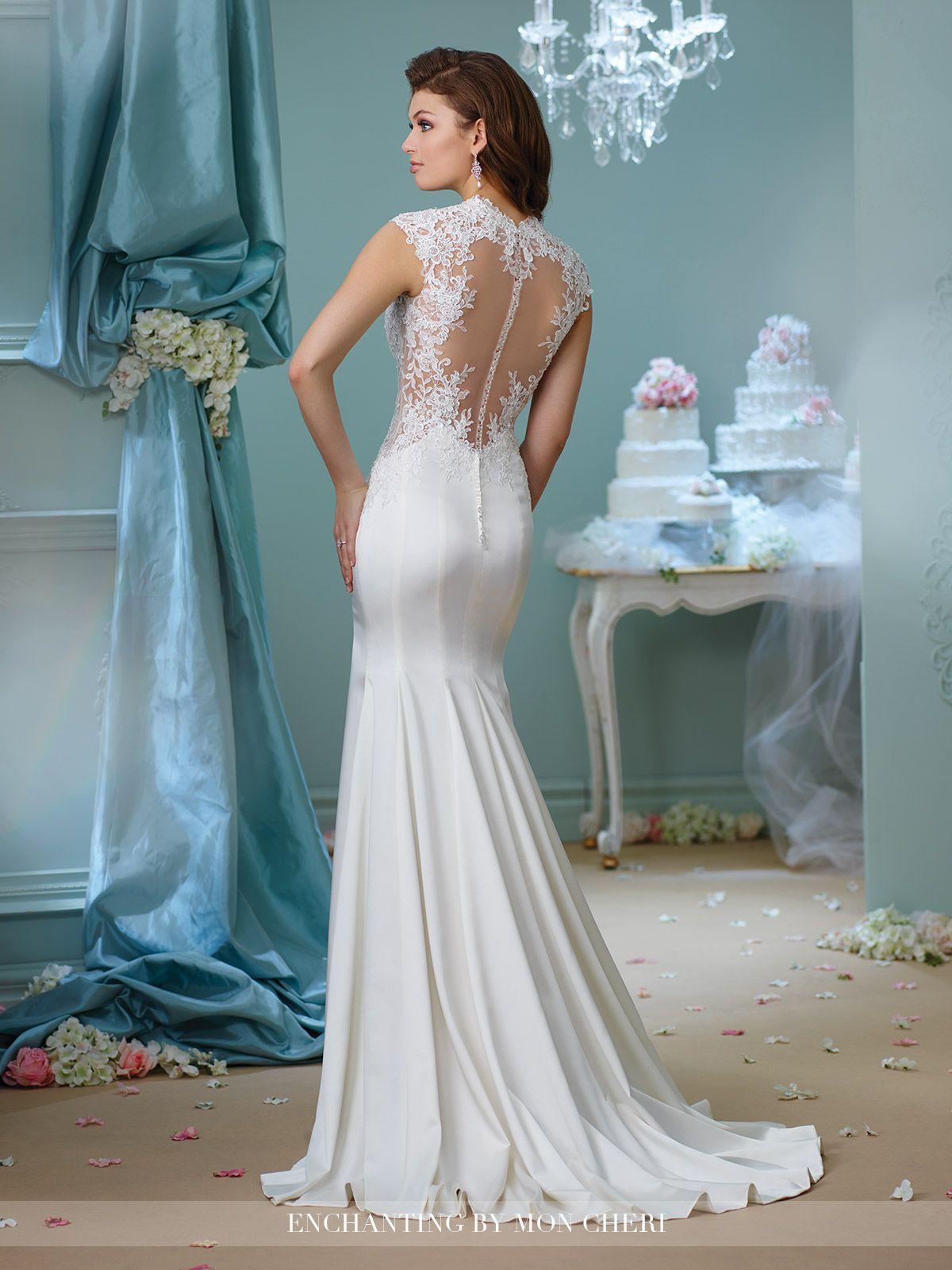 Venise Lace Trumpet Wedding Dress | Trumpets, Informal wedding ...