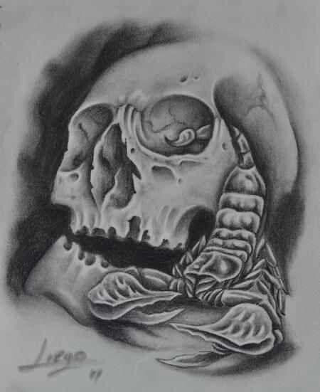Skull And Scorpion Tattoo Tattoos Tattoos Scorpion Scorpio