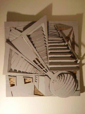 Cardboard Art Painting
