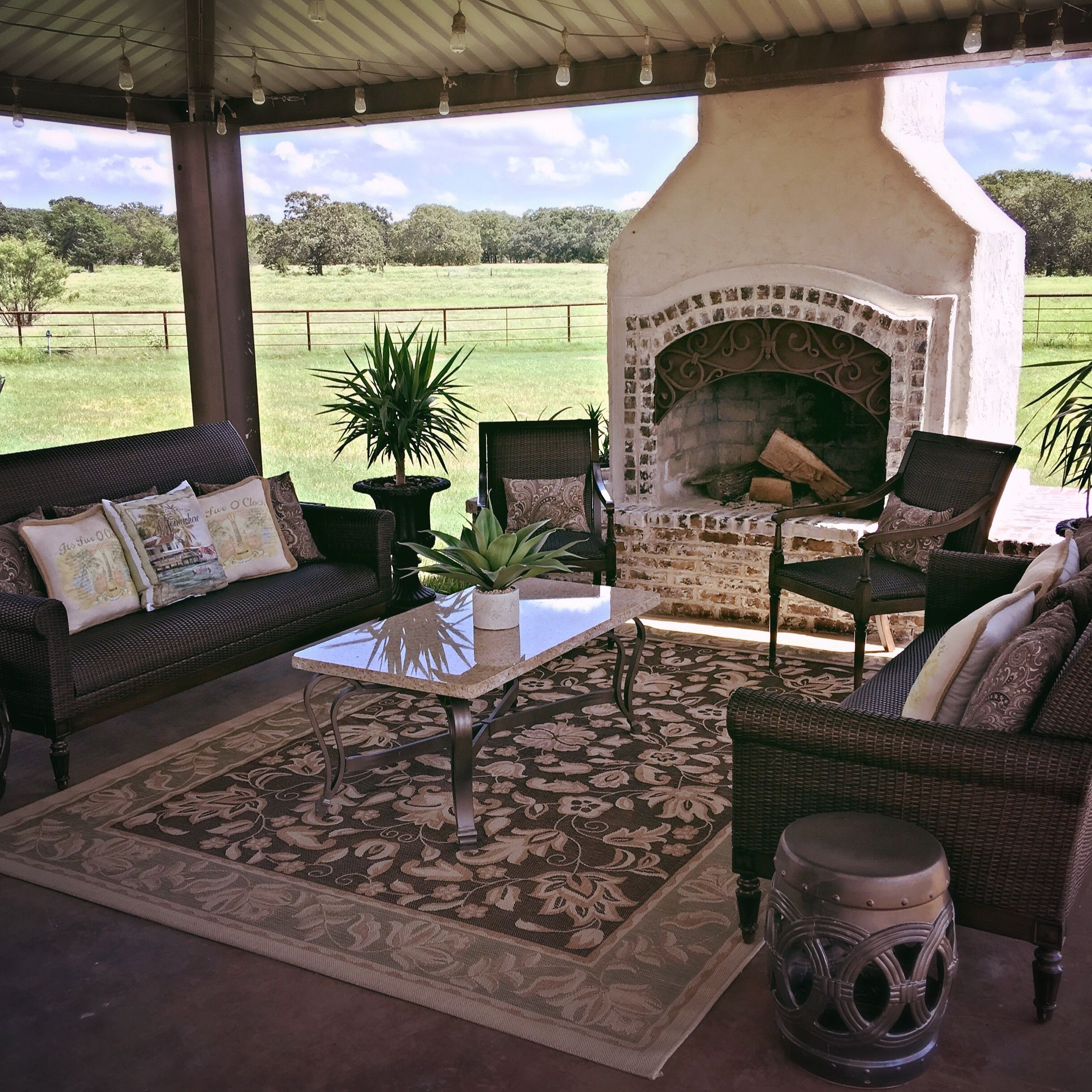outdoor fireplace mediterranean inspired by frontgate diy from