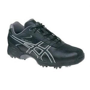 sale  asics tour golf cleats mens black  buy now only