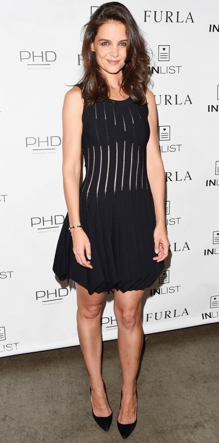 Look of the Day - September 17, 2014 - Katie Holmes in Azzedine Alaia from #InStyle