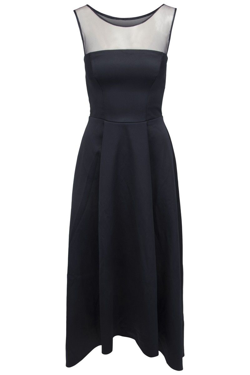 b91d54e9eb1b Goddess navy blå satin kjole