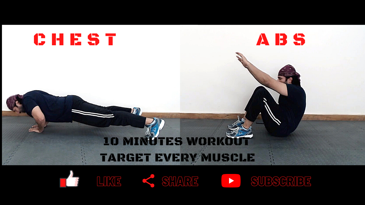 10 Minutes Chest And Abs Home Workout Day 90 Workout Days Workout 10 Minute Workout