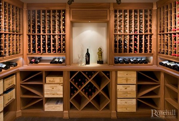 Custom Wine Cellar Display Arch Made From Sapele Wood