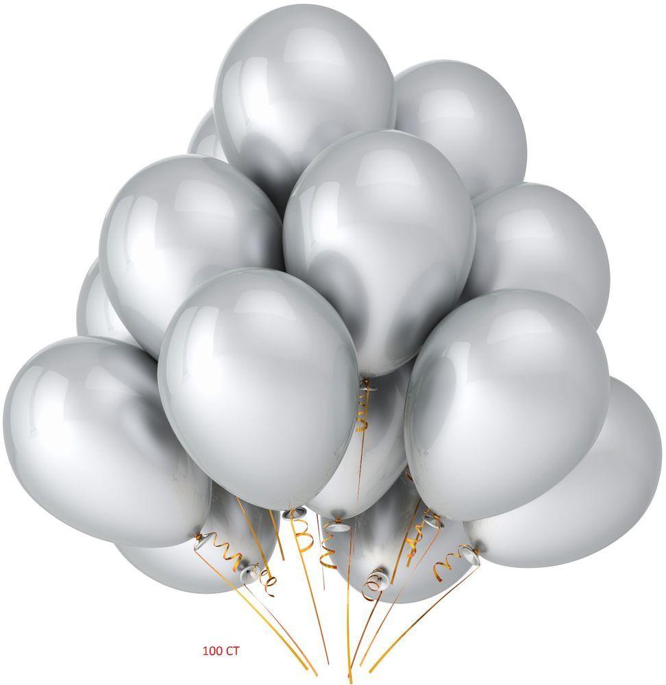 medium resolution of silver latex balloon bouquet