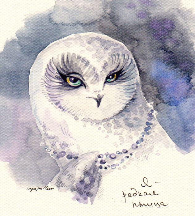 white owl by inga paltser